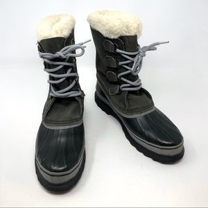 Sorel Alpine Wool Snow Boots Waterproof Black